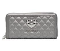 Portefeuille matelassé Portemonnaies & Clutches für Taschen in silber