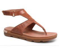 Torpeda Ankle Strap Sandalen in braun
