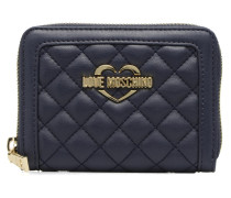 Portefeuille M Zip Around Quilted Portemonnaies & Clutches für Taschen in blau