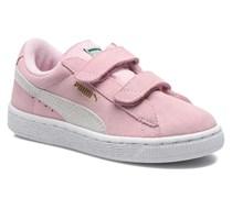 Suede 2 Straps Kids. Sneaker in rosa