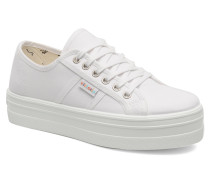 Blucher Lona Plataforma Sneaker in weiß