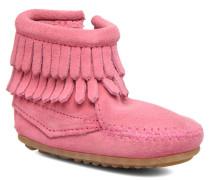 Double Fringe side zip boot B Stiefeletten & Boots in rosa
