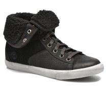 Warm Lines Roll Top Sneaker in schwarz