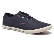 JJ Spider Waxed Canvas Sneaker in blau