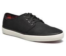 JJ Turbo Waxed Canvas Sneaker in schwarz
