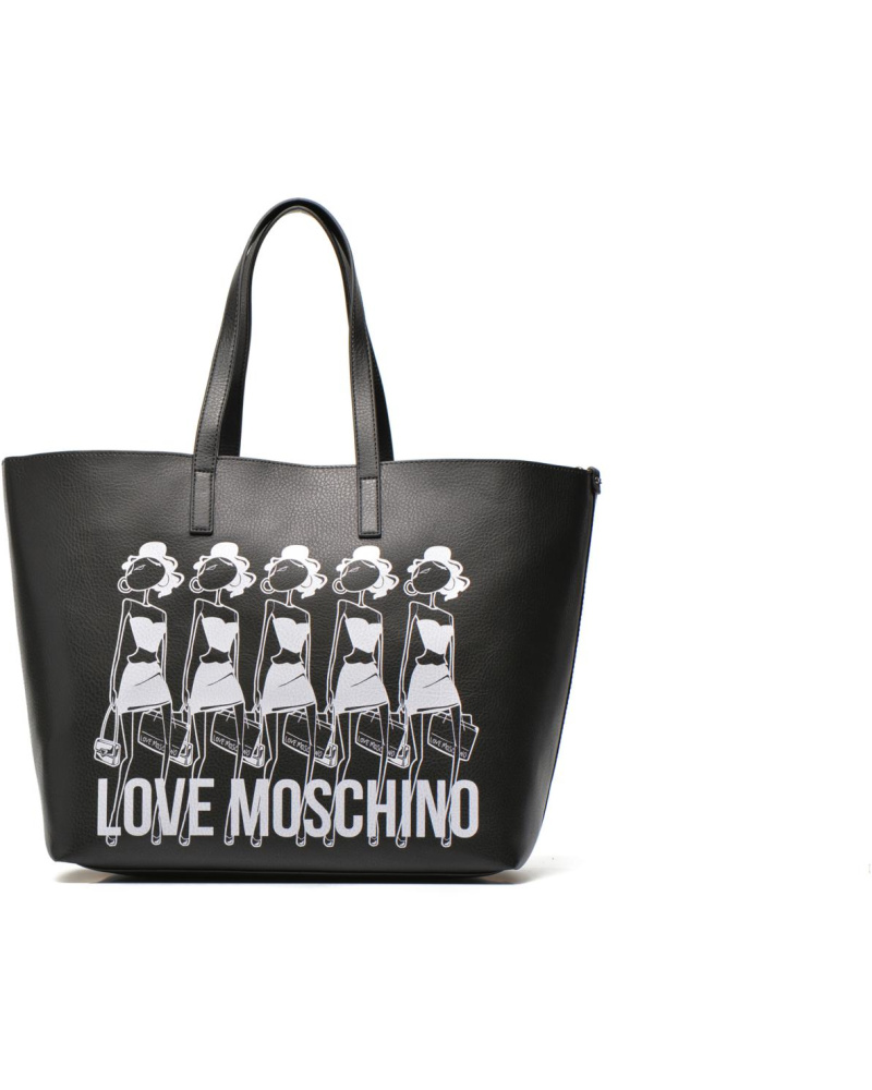 moschino damen love moschino love reversibble cabas handtaschen f r taschen schwarz. Black Bedroom Furniture Sets. Home Design Ideas