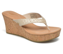 Natassia Metallic Basket Zehensandalen in goldinbronze