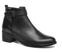 GLELIN #Mult Vo Milled NOIR ~Doubl & 1ere CUIR Stiefeletten Boots in schwarz