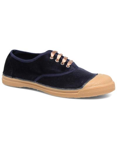 Tennis Velvet Sneaker in blau