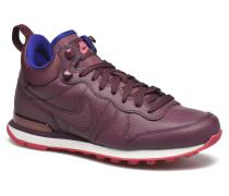 W Internationalist Mid Lthr Sneaker in weinrot