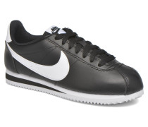 Wmns Classic Cortez Leather Sneaker in schwarz