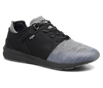 Black Tab Runner Sneaker in schwarz