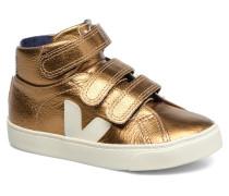 Esplar Mid Small Velcro Sneaker in goldinbronze