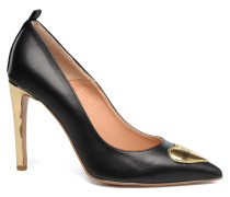 Gold Heart Oumo Pumps in schwarz