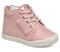 Frange Schnürschuhe in rosa