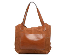 TACITA MIX Cuir Cabas Handtaschen für Taschen in braun