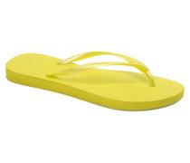 Slim Métallic Femme Zehensandalen in gelb