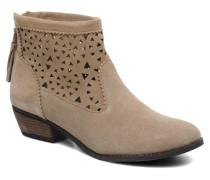 Cutout Boot Stiefeletten & Boots in beige