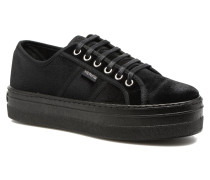 Basket Terciopelo Plateform Sneaker in schwarz