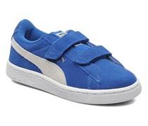 Suede 2 Straps Kids. Sneaker in blau