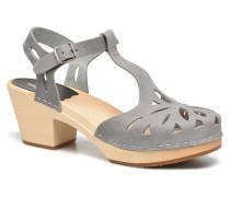 Lacy Sandal Sandalen in grau