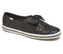 Ch Laceless Kate Spade Tuxedo Bow Glitter Sneaker in schwarz