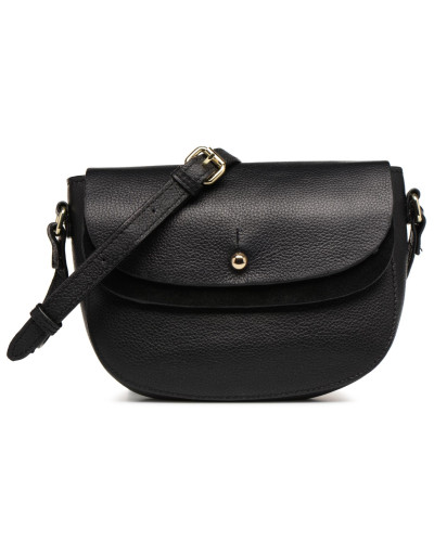Magda Leather Crossbody Handtasche in schwarz