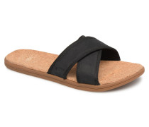 Seaside Slide Sandalen in schwarz