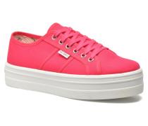 Basket Lona Plataforma Sneaker in rosa