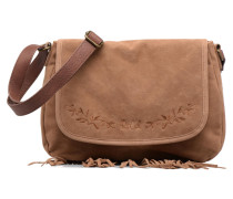 Talamanca suede Shoulder bag Handtasche in braun