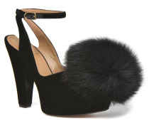 Plateforme Pompon Pumps in schwarz