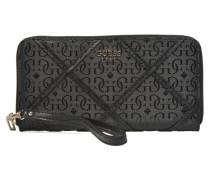 Winett Large zip around Portemonnaies & Clutches für Taschen in schwarz