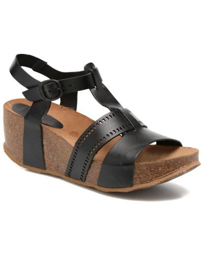 kickers damen abycool sandalen in schwarz reduziert. Black Bedroom Furniture Sets. Home Design Ideas