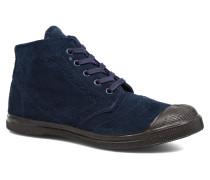 Derby Suedboots Sneaker in blau