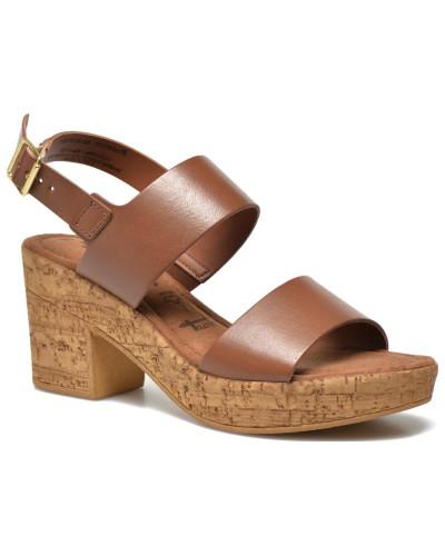 tamaris damen tamaris bideca sandalen f r damen braun reduziert. Black Bedroom Furniture Sets. Home Design Ideas