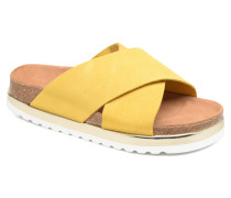 Lisa Leather Sandal Clogs & Pantoletten in gelb