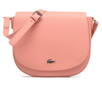 ROUND CROSSOVER BAG Handtasche in rosa