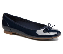 Couture Bloom Ballerinas in blau