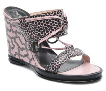 Mae ankle strap wedge Clogs & Pantoletten in rosa