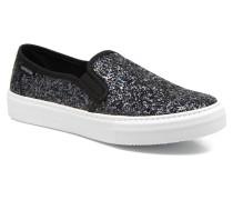 Slip On Glitter Sneaker in schwarz