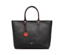 Cabas Saffiano Lady Luxe Handtaschen für Taschen in schwarz