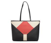 Cabas Quilted Patchwork Handtaschen für Taschen in schwarz