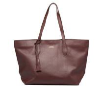 Cabas Shopper Porté épaule Handtasche in weinrot