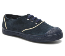 Tennis Suedpiping E Sneaker in blau