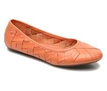 Emmaline Chaste Ballerinas in orange