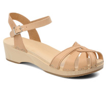 Cross Strap Debutant Sandalen in beige