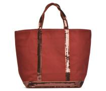 Cabas paillettes toile Porté main M Handtaschen für Taschen in braun