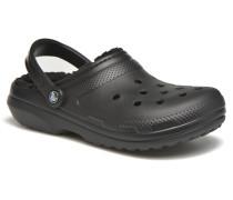 Classic Lined clog Sandalen in schwarz