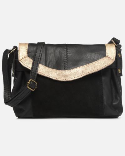 ISAURA LEATHER SMALL CROSSBODY Handtasche in schwarz