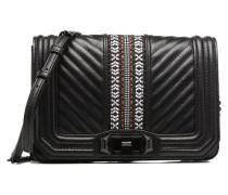 Jacquard Small Love Crossbody Handtaschen für Taschen in schwarz